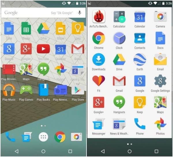 Интерфейс Nexus 6