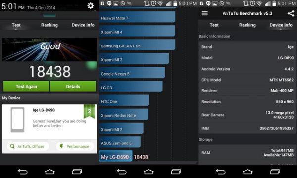 Производительность LG G3 Stylus