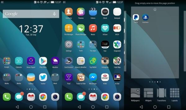 Huawei Ascend Mate 7 интерфейс