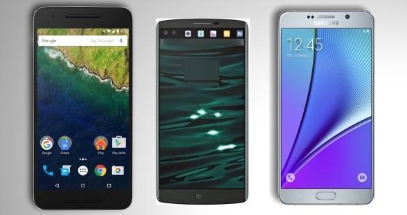 LG V10 vs Galaxy Note 5 vs Nexus 6P