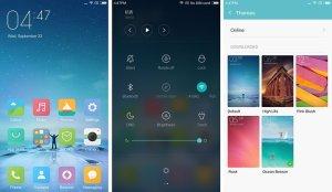 Пользовательский интерфейс Xiaomi Redmi Note 2