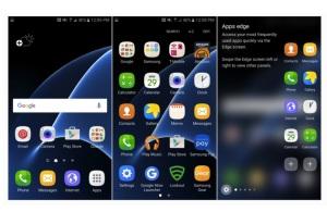 Samsung Galaxy S7 интерфейс